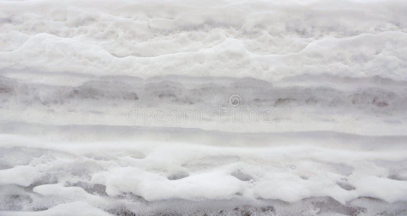 雪盖纹理背景 库存图片