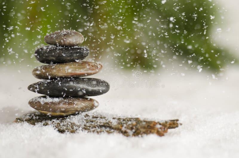 雪秋天 库存图片