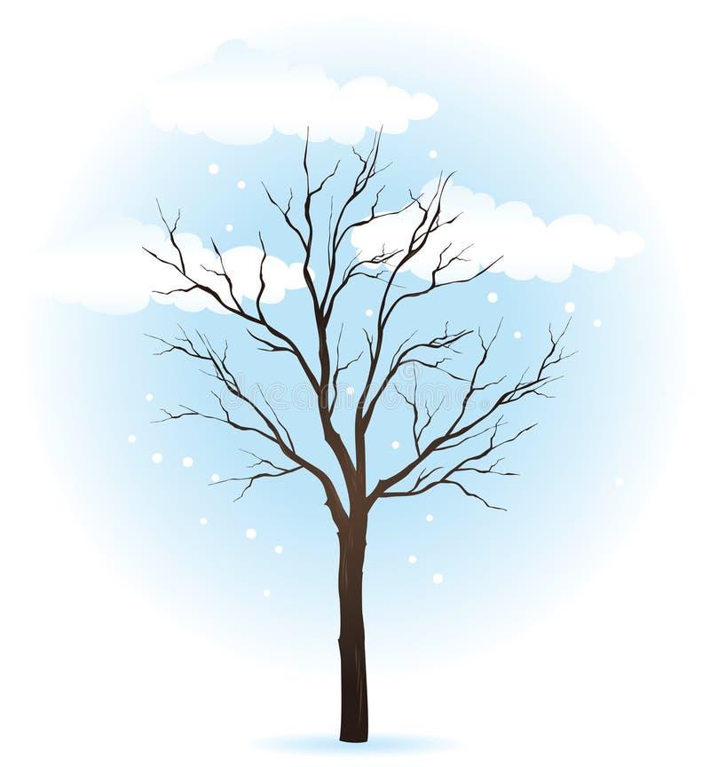 雪结构树冬天 向量例证
