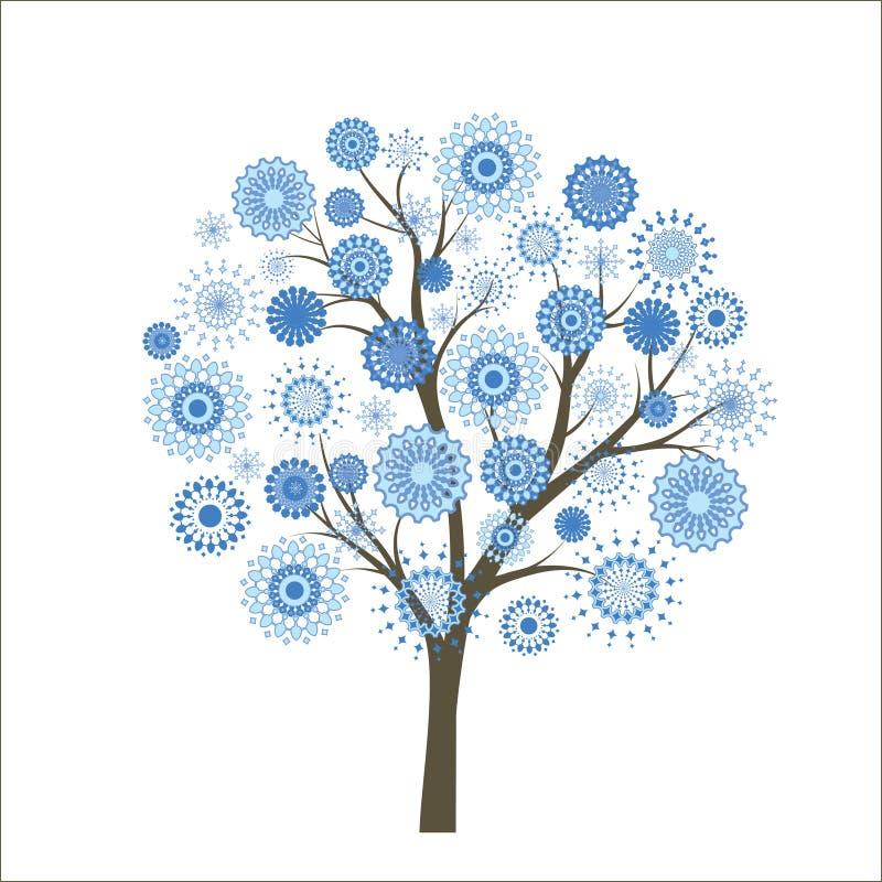 雪结构树 向量例证