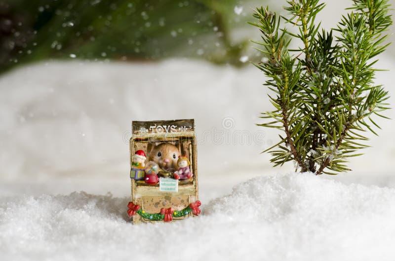雪老鼠 库存图片