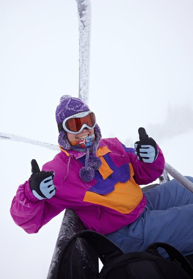 滑雪者画象 免版税库存图片