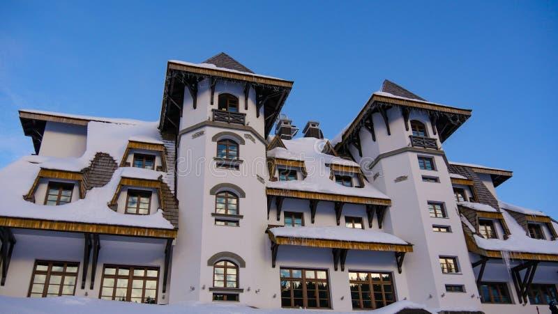 滑雪胜地在波斯尼亚-山Jahorina 免版税库存图片