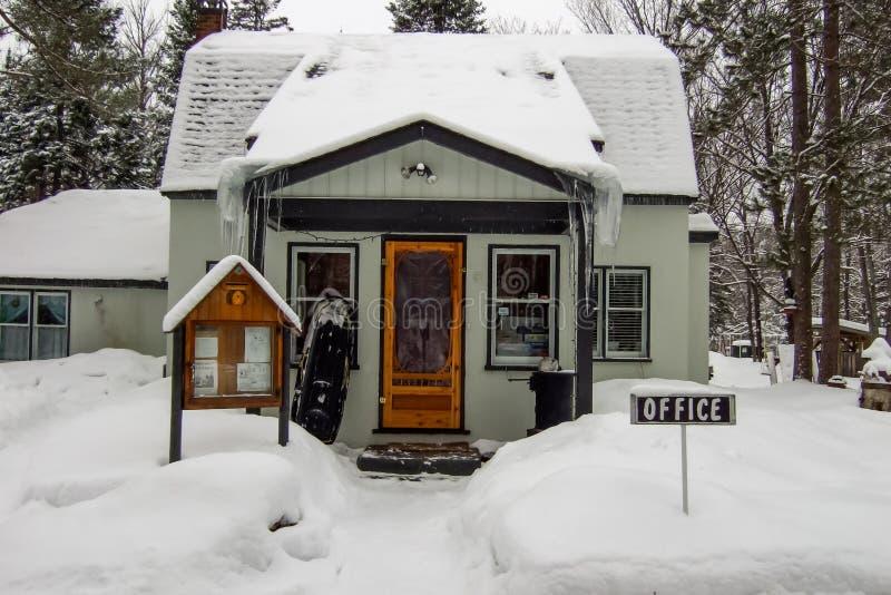 滑雪胜地, Orangeville, Dufferin办公室 免版税库存照片