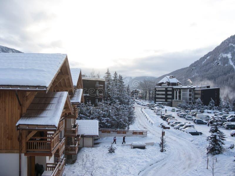 滑雪胜地 免版税库存图片