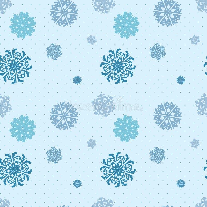 雪花冬天无缝的纹理,不尽的样式 皇族释放例证