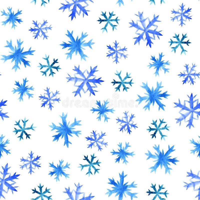 雪花无缝的样式 库存例证