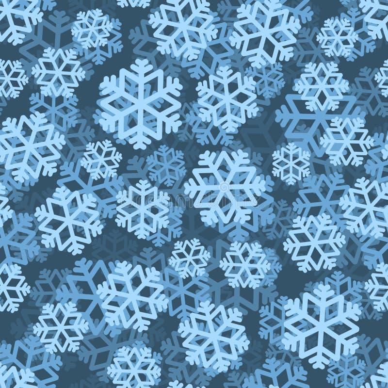 雪花样式3D close snow texture up white 背景蓝色雪花白色冬天 降雪 向量例证