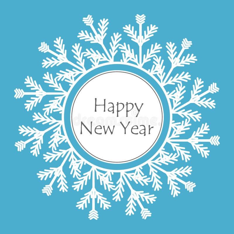 雪花框架新年好例证 库存例证