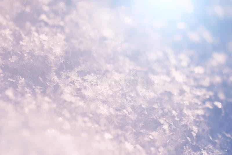 雪花的宏观图象 免版税库存照片