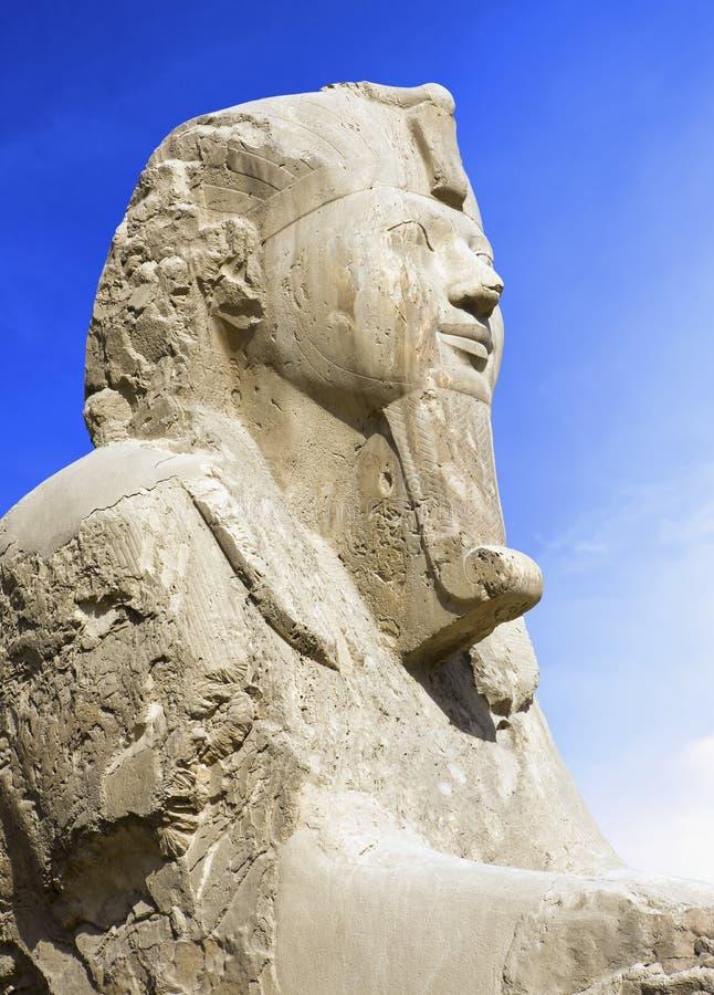 雪花石膏狮身人面象第19朝代细节(1341-1200 BC)。古老孟菲斯(联合国科教文组织世界遗产名录名单1979)。开罗埃及非洲 免版税库存照片