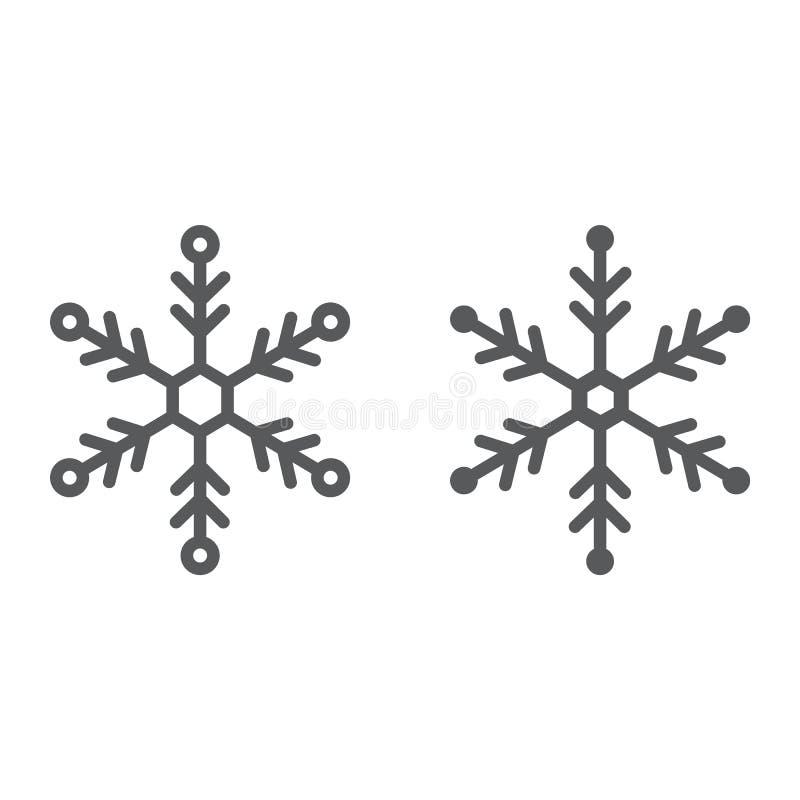 雪花线和纵的沟纹象、雪和冬天 库存例证