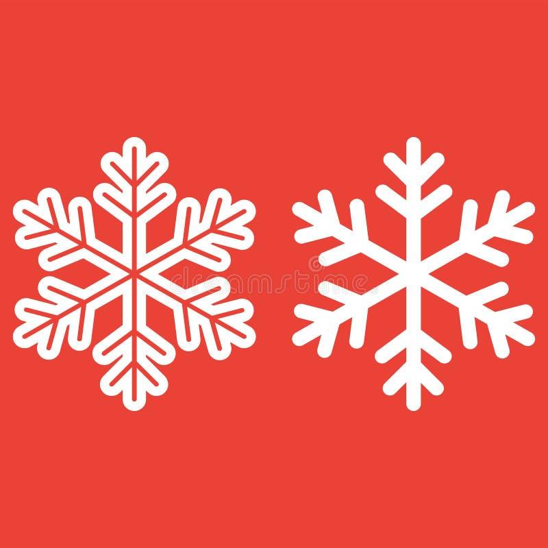 雪花线和纵的沟纹象,新年 库存例证