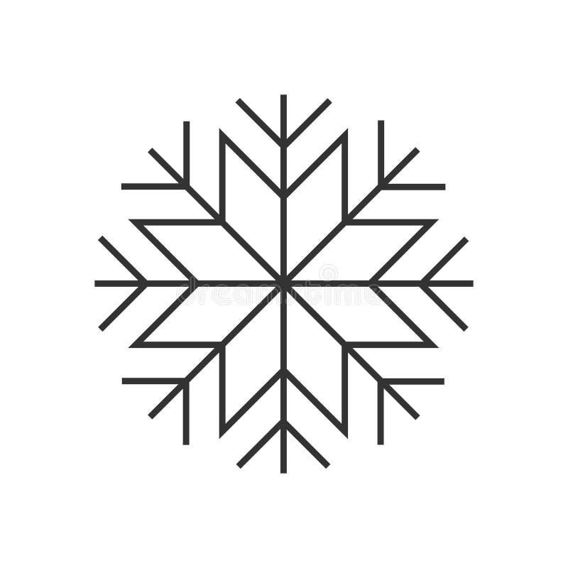 雪花线象 向量例证