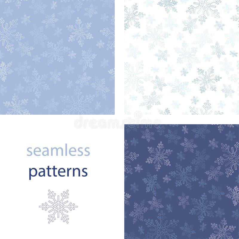 雪花背景新年和圣诞节设计 向量例证