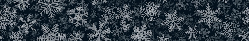 雪花许多层横幅  皇族释放例证