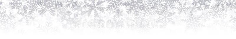 雪花许多层横幅  向量例证