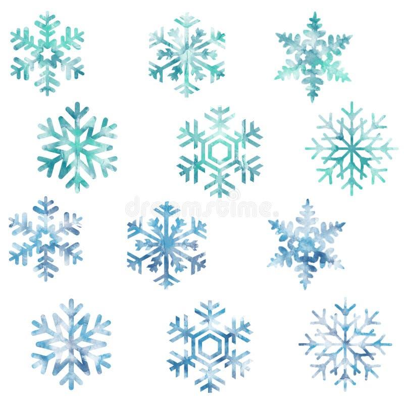 雪花,雪,新年,圣诞节,寒冷,样式,集合 向量例证