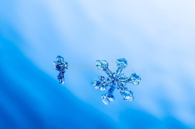 雪花水晶自然宏指令 库存照片