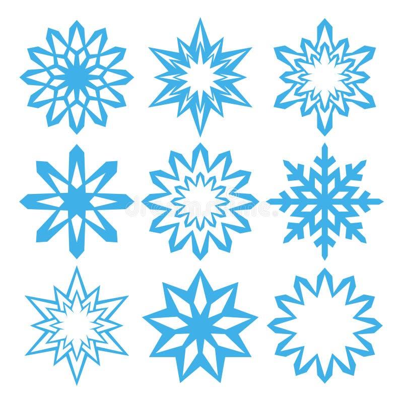 雪花 设计元素圣诞节和新年 皇族释放例证