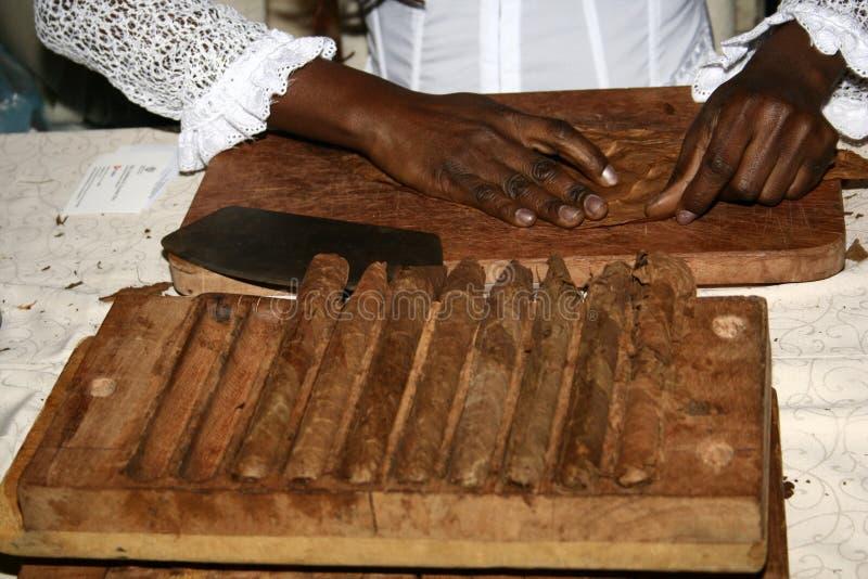 雪茄做 免版税库存图片