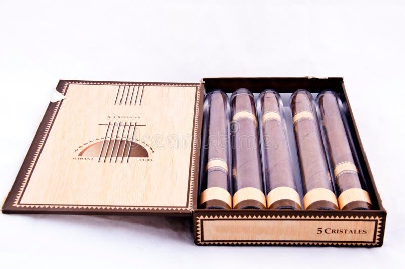 雪茄古巴装箱 免版税库存照片
