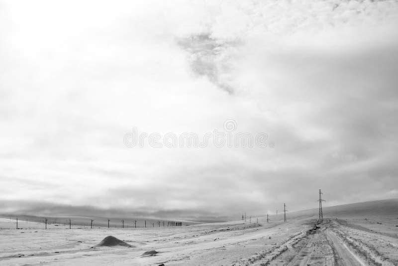 雪荒原 库存图片