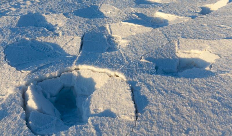 雪表面  库存图片