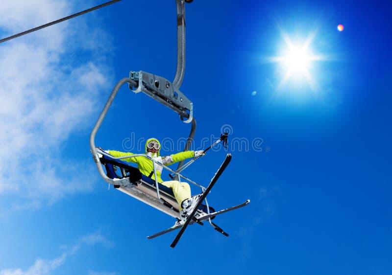 滑雪超级冷却 库存照片