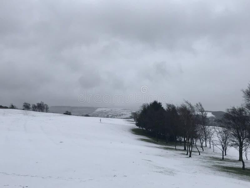 雪路线 图库摄影