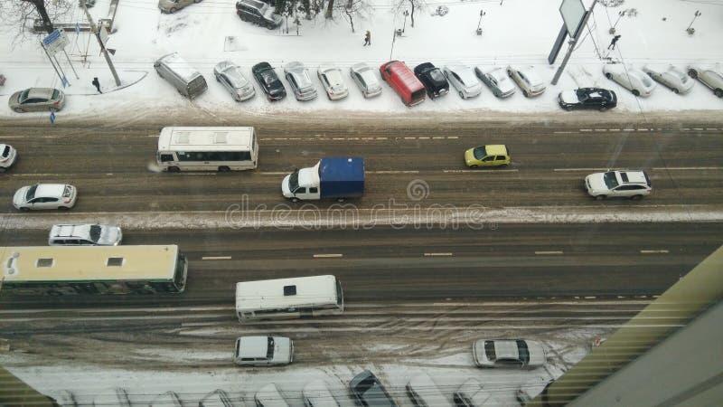 雪路 免版税库存照片