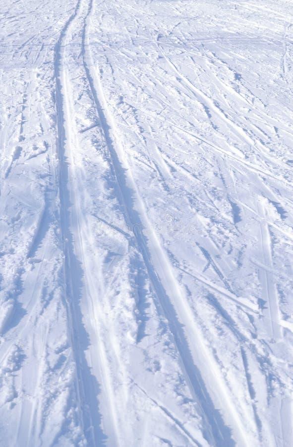 滑雪轨道 纹理,背景 免版税库存图片