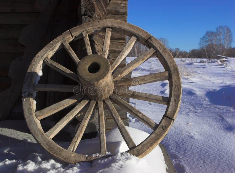 雪轮子 免版税库存照片