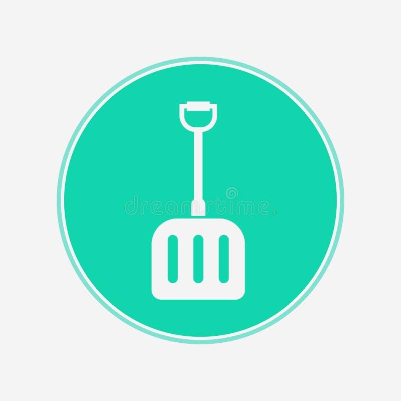 雪铁锹传染媒介象标志标志 库存例证