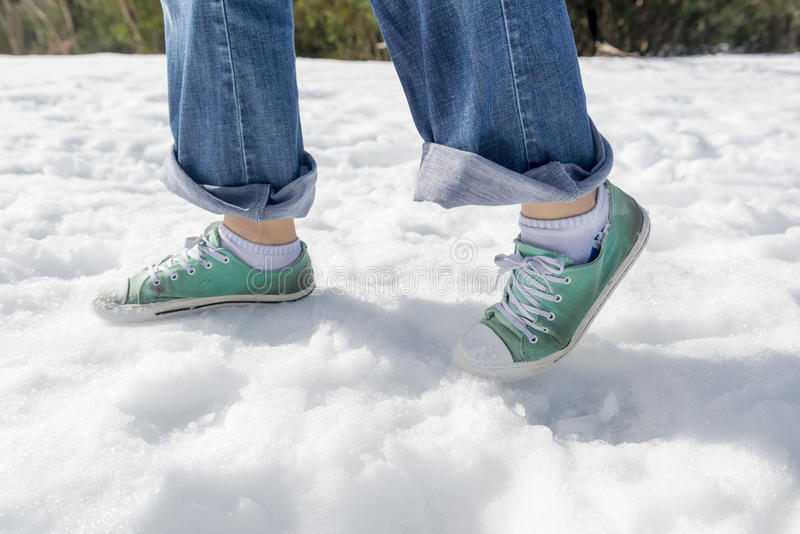 雪鞋子 库存图片
