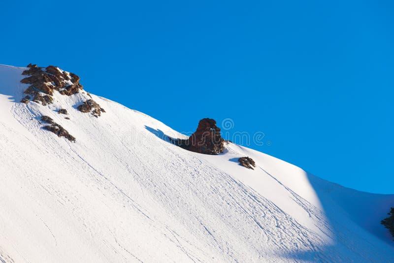 雪顶层 免版税库存照片
