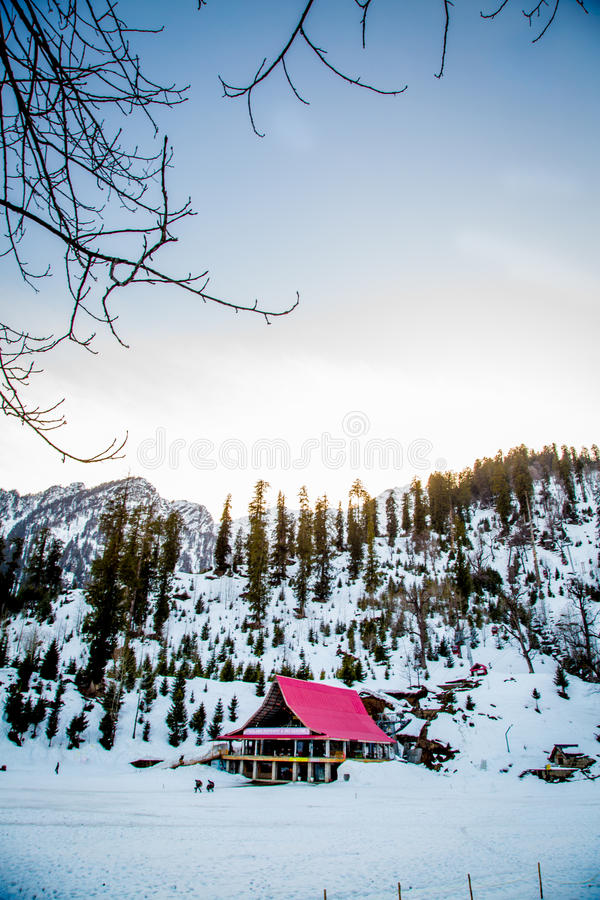 雪风景家 图库摄影