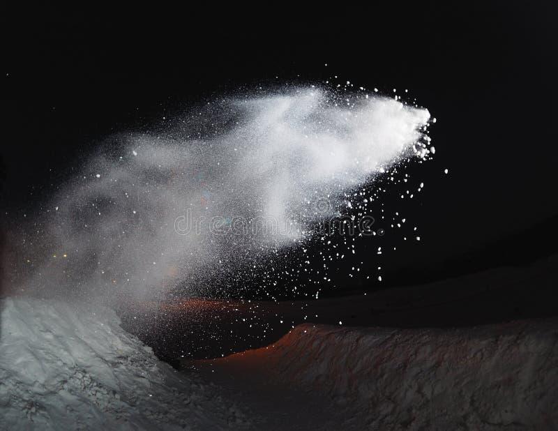 雪飞溅 库存图片