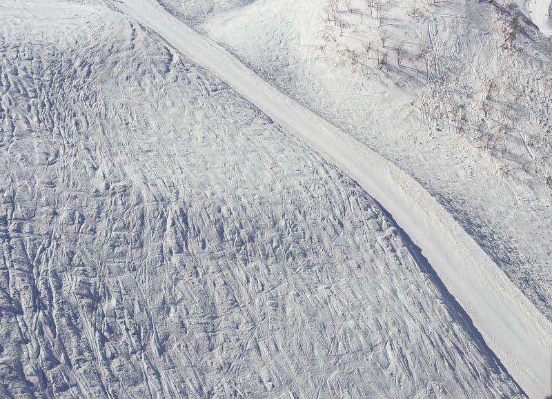 雪,滑雪轨道,索契,俄罗斯 图库摄影