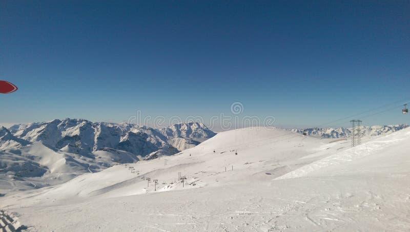 滑雪驻地 免版税图库摄影