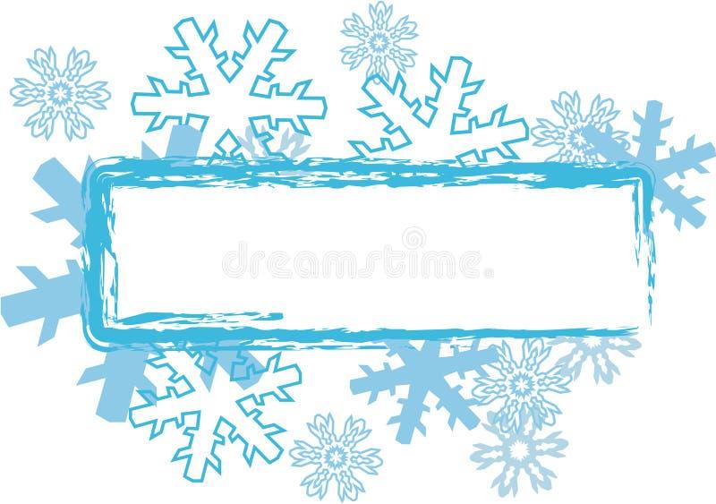 雪 向量例证