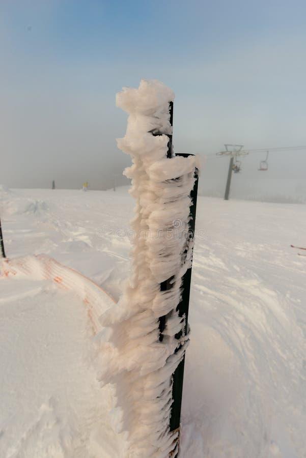 冻结雪 免版税图库摄影
