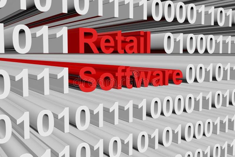 零售软件 库存例证