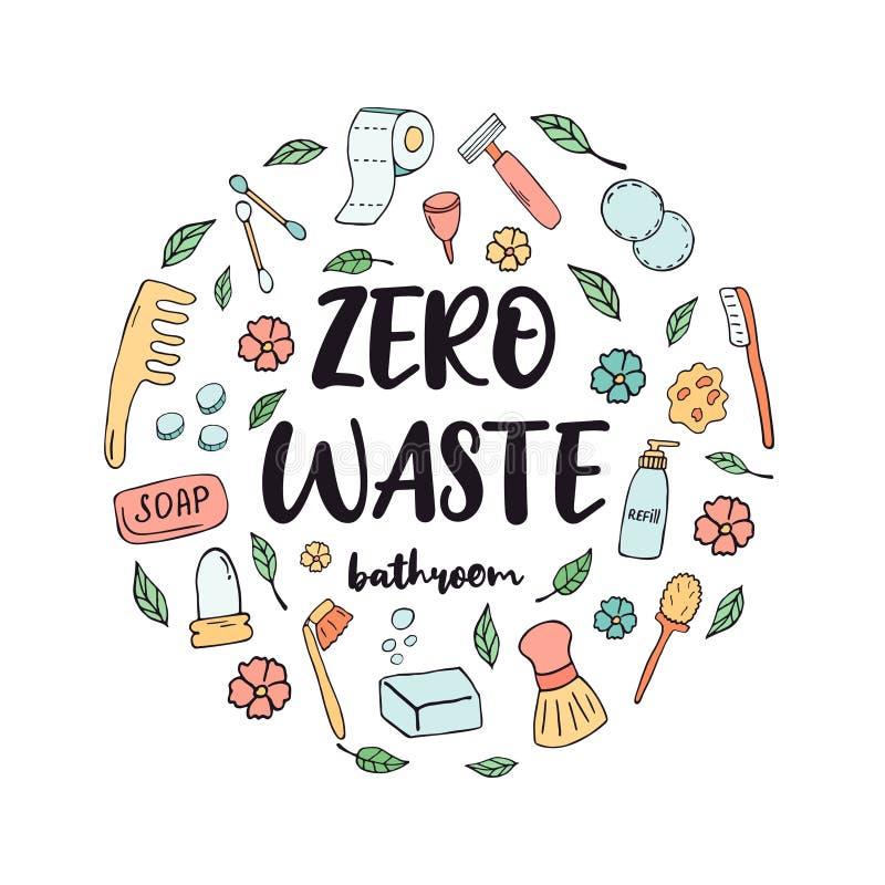 零的废卫生间概念 o 向量例证