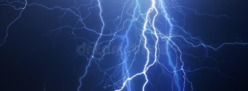 雷、闪电和雨 免版税库存图片