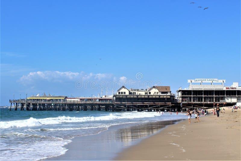 雷东多着陆加利福尼亚风景看法在洛杉矶县,加利福尼亚,美国 库存照片