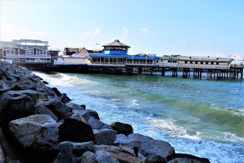 雷东多着陆加利福尼亚风景看法在洛杉矶县,加利福尼亚,美国 免版税库存照片