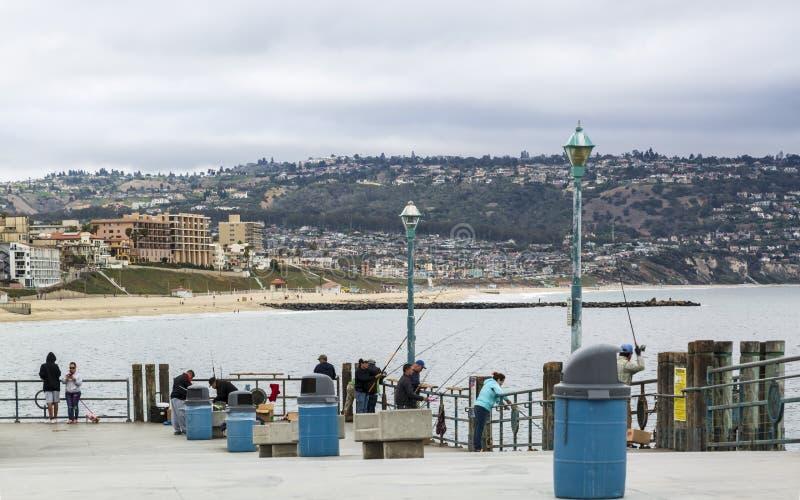 雷东多着陆码头,雷东多海滩,加利福尼亚,美国,北美洲 免版税库存照片