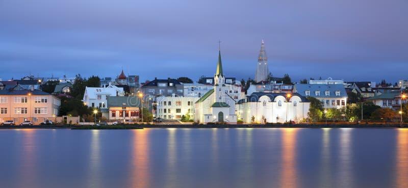 雷克雅未克,冰岛。 库存照片