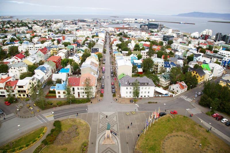雷克雅未克,冰岛全景  库存照片